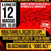 Liberiamo Roma da divieti, rendita e precarietà: lunedì 12 maggio manifestazione cittadina ore 16 da Piazza della Repubblica