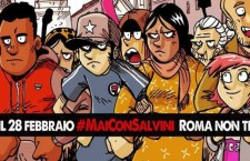 MaiConSalvini: con la Roma democratica e antifascista per dire no al fascio-leghismo