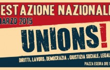 28 marzo, a Roma la piazza dell'Unions!