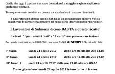 Licenziamenti punitivi alla Magneti Marelli di Sulmona.