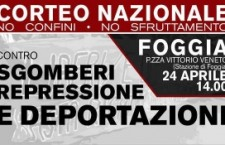 Foggia 24 Aprile: Corteo Nazionale No Confini No Sfruttamento!