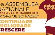 26/27 maggio 2018 – 4° Assemblea nazionale di Potere al Popolo