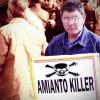 Le vittime dell'amianto sulla scena del crimine