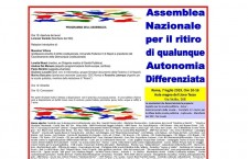 No all'Autonomia Regionale Differenziata! Assemblea nazionale