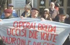 AMIANTO BREDA: PROCESSO D'APPELLO PER LA MORTE DI 12 OPERAI