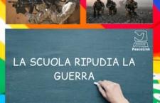 E nella scuola italiana, in tempi d'emergenza, c'è chi esalta la sanguinosa guerra…