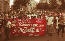 «Non ci hanno conquistato»: la Gira zapatista in corteo a Madrid