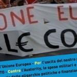 25 marzo contro la celebrazione dei trattati europei