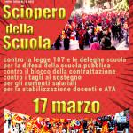 Il 17 marzo è sciopero della scuola, contro il governo
