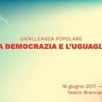 UN'ALLEANZA POPOLARE PER LA DEMOCRAZIA E L'UGUAGLIANZA. Verso il 18 giugno
