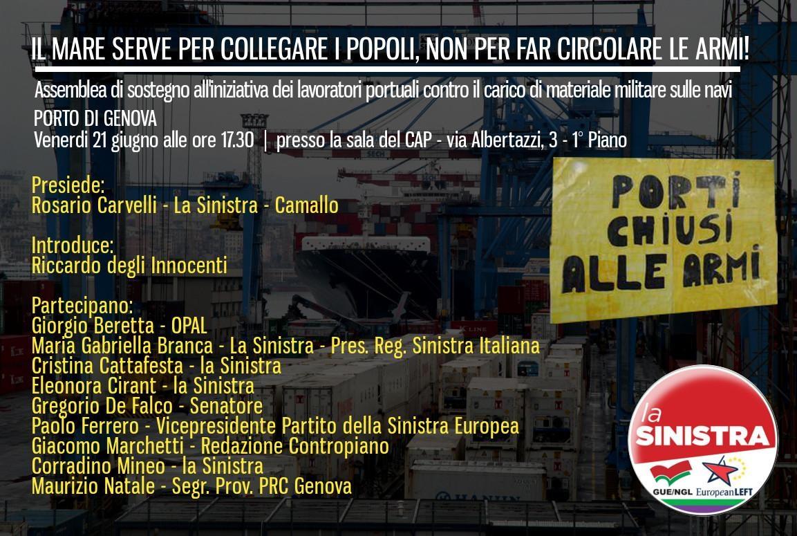 Armi porto Genova